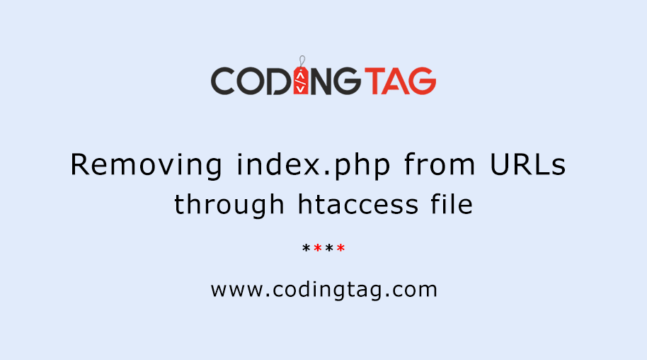 htaccess remove index.php from url