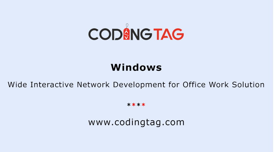Wide Interactive Network Development for Office Work Solution (Windows)