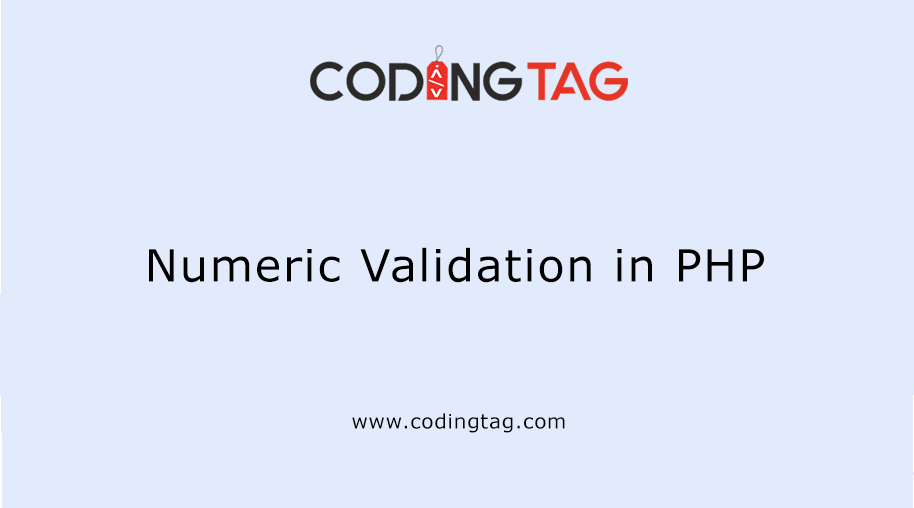 Numeric Validation in PHP