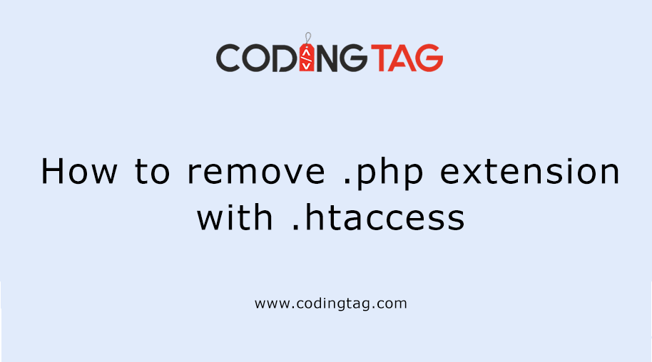 How to remove .php extension with .htaccess