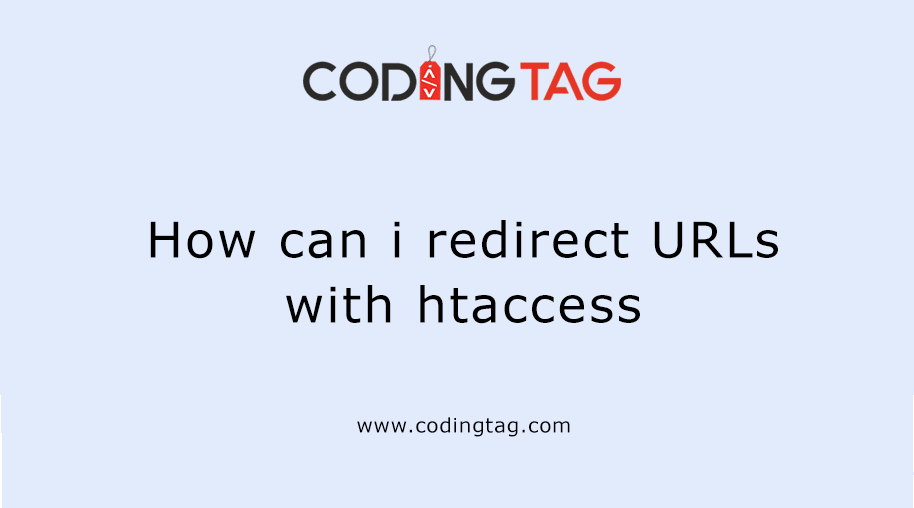How can I redirect URLs with htaccess
