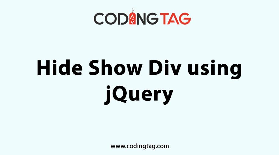 Hide Show Div using jQuery