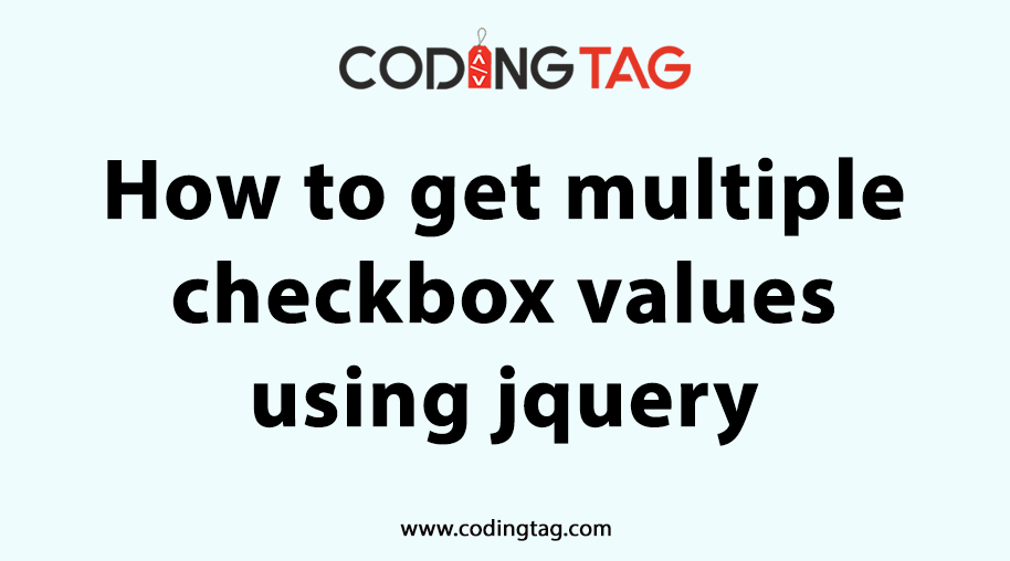 How to get multiple checkbox values using jquery?