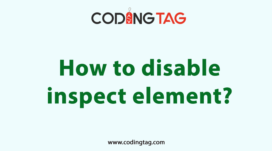 How to disable inspect element