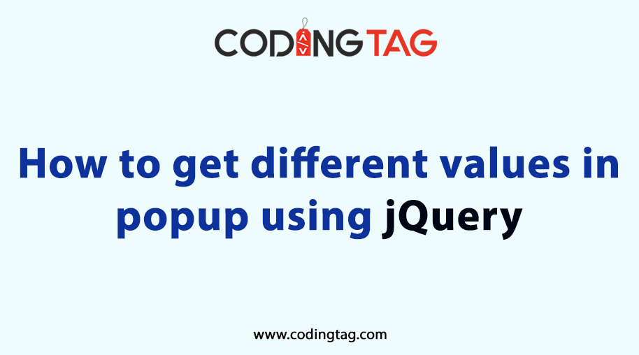 How to get different values in popup using jQuery
