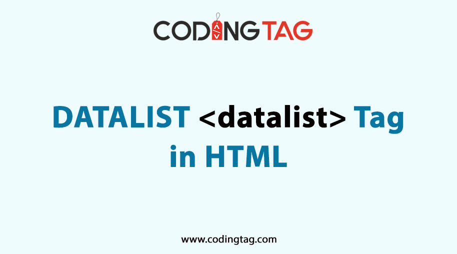 HTML DATALIST (<datalist>) Tag