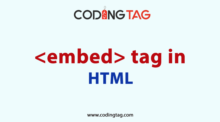 HTML EMBED <embed> Tag
