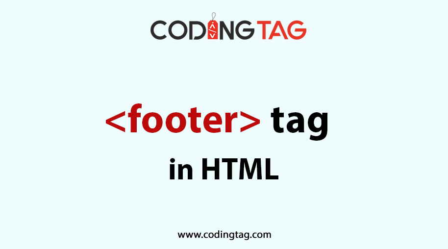 HTML FOOTER (<footer>) Tag