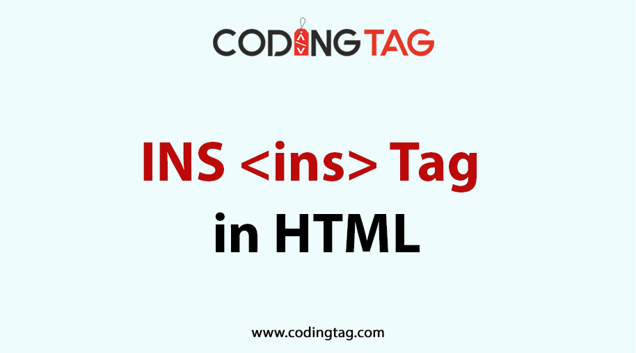 HTML INS <ins> Tag