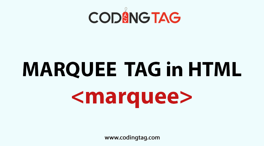 HTML MARQUEE <marquee> Tag