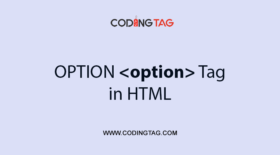 HTML OPTION <option> Tag