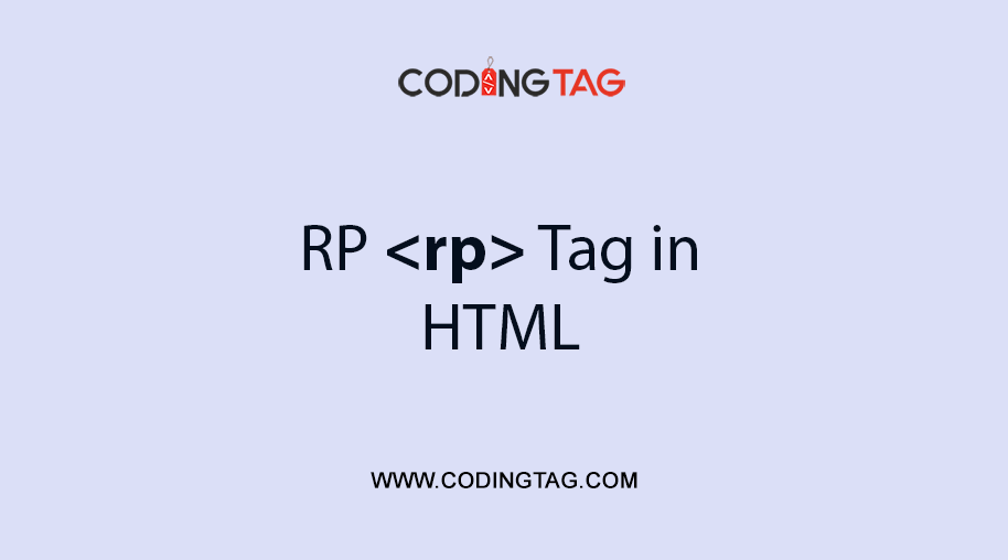 HTML RP <rp> Tag