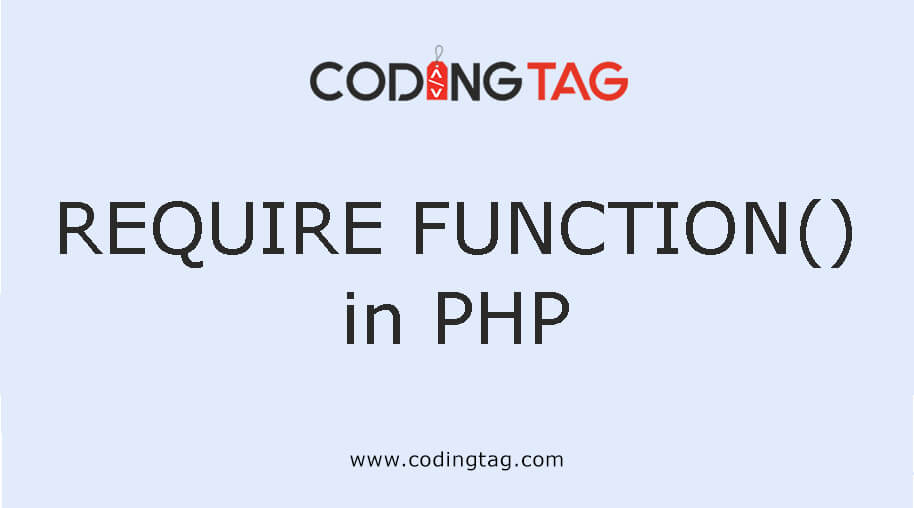require() function in php