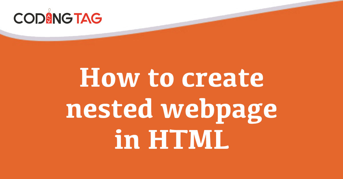 How to create nested webpage in HTML