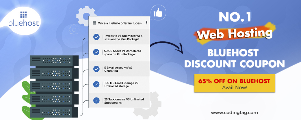 Once in a lifetime offer! 65% off on Bluehost