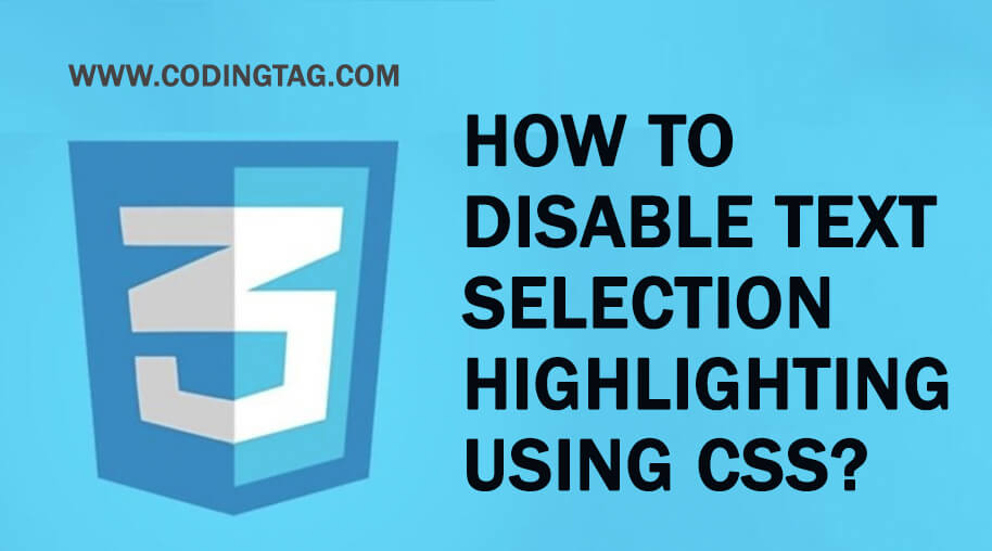 How to disable text selection highlighting using CSS?