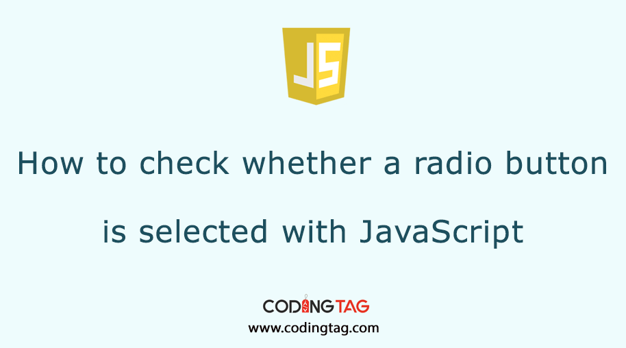 How to check whether a radio button is selected with JavaScript?