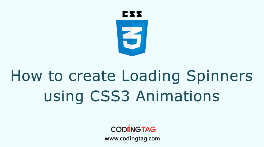 Create Loading Spinners Using CSS3 Animations. Preloader explained