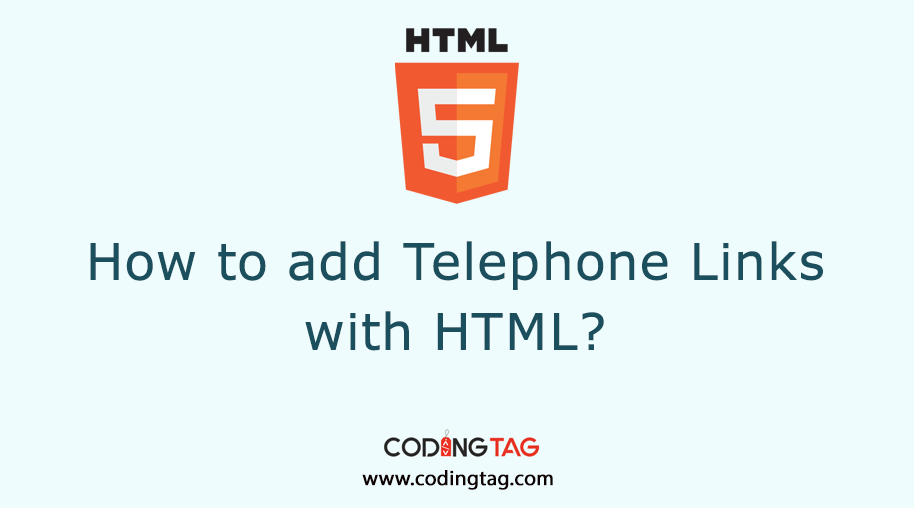 How to Add Telephone Links with HTML? click to call action in HTML