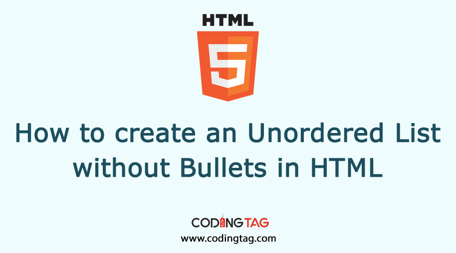 Learn to create unordered list without bullets using list-style-type