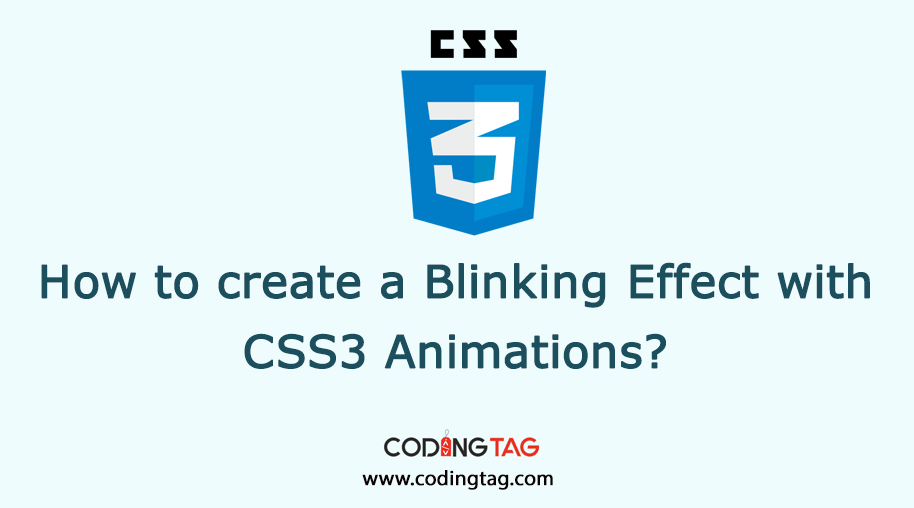 How to create a Blinking Effect with CSS3 Animations?