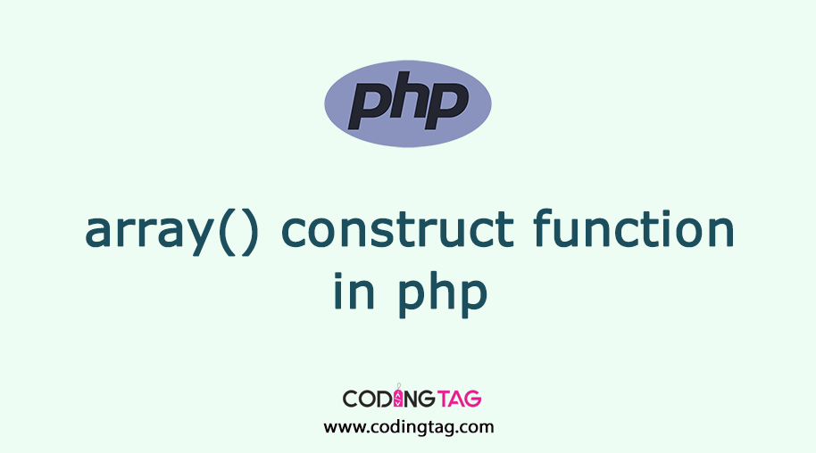 array() construct function in php