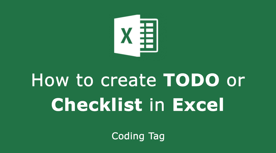 How to create TODO or Checklist in Excel