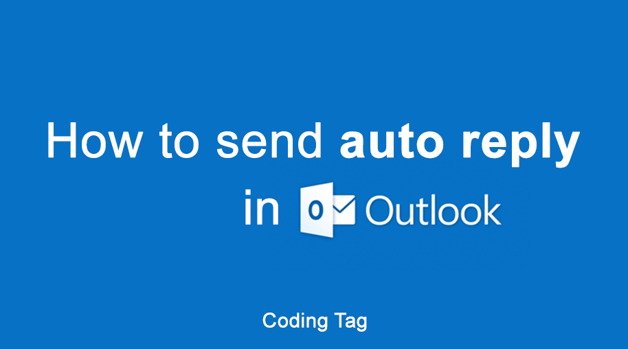 How to send auto reply in Outlook