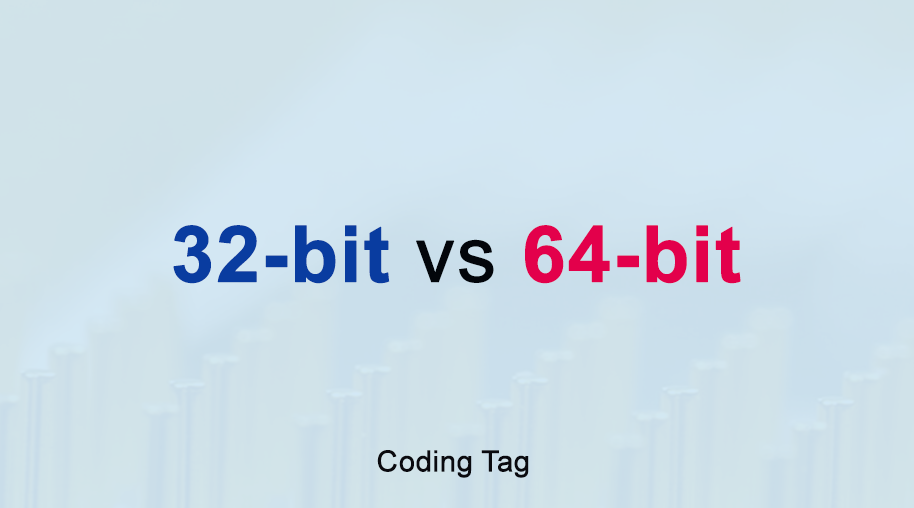 Difference between 32 bit vs 64 bit