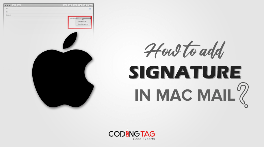 How to add Signature in Mac Mail